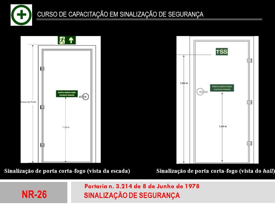 NR-26 SINALIZAÇÃO DE SEGURANÇA Portaria n. 3.214 de 8 de Junho de 1978 CURSO DE CAPACITAÇÃO EM SINALIZAÇÃO DE SEGURANÇA Sinaliza ç ão de porta corta-f