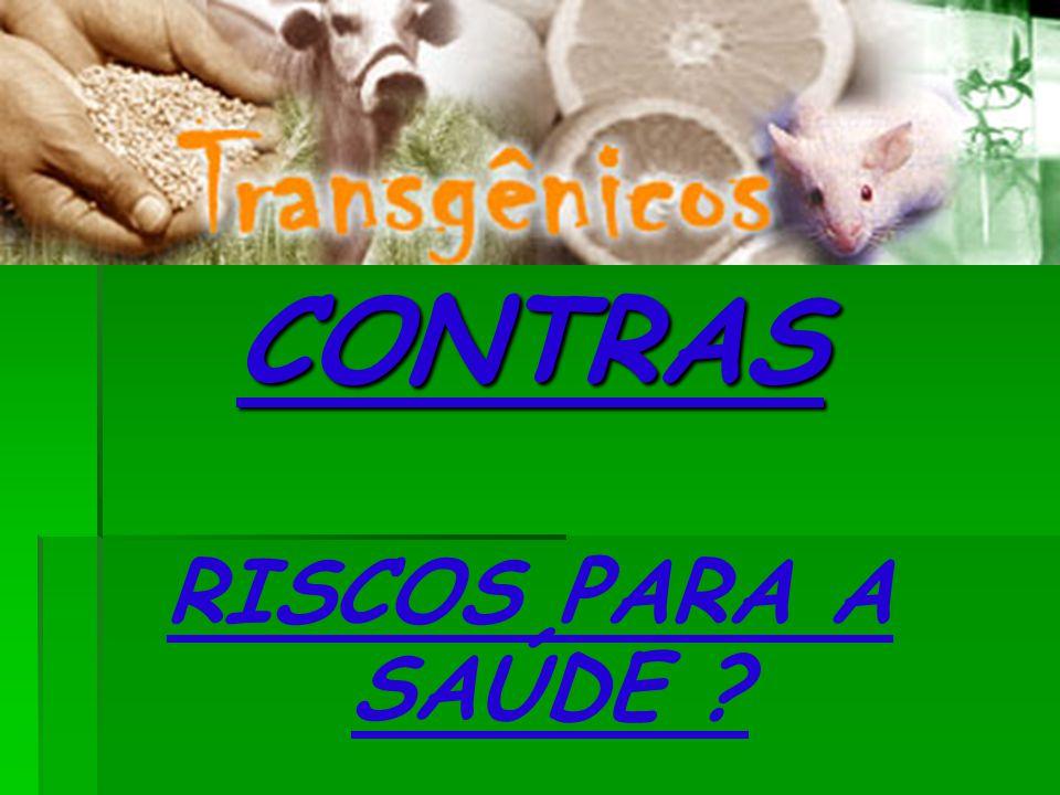 CONTRAS RISCOS PARA A SAÚDE