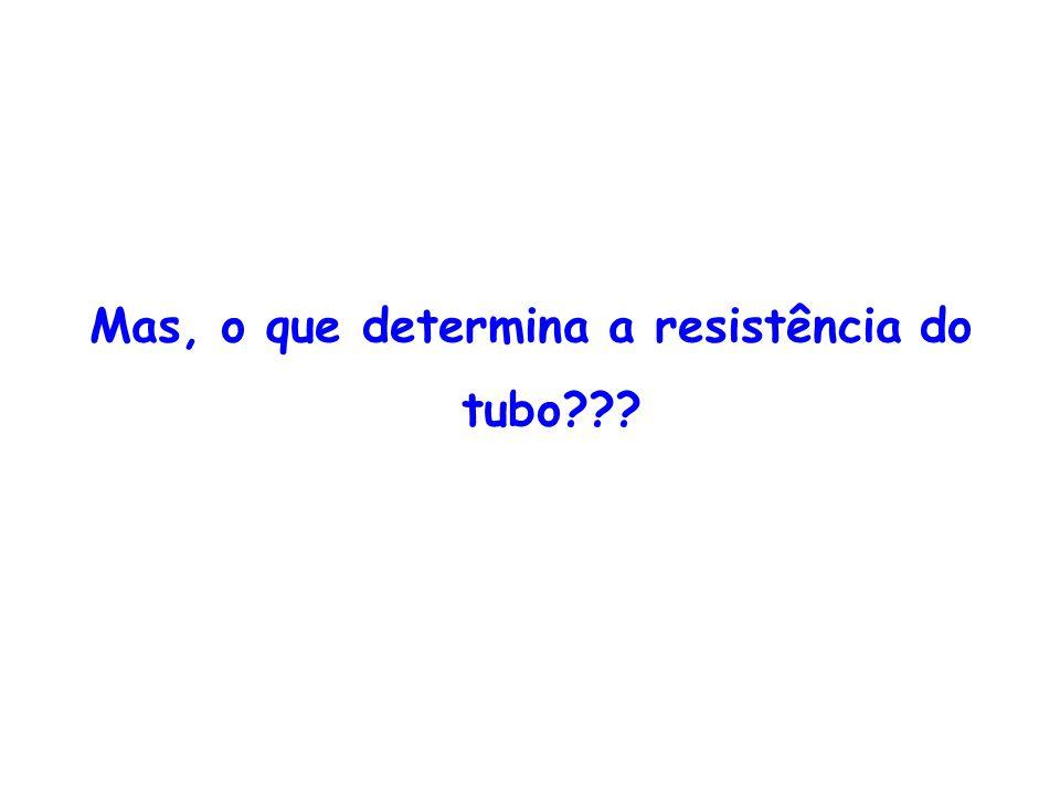 Mas, o que determina a resistência do tubo???