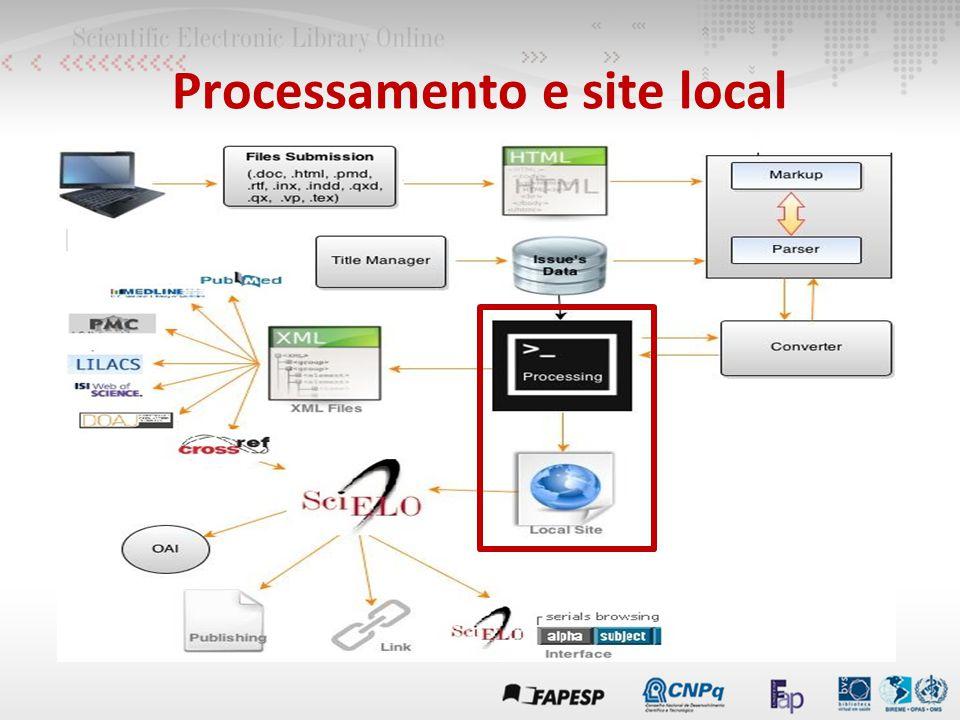 Processamento e site local