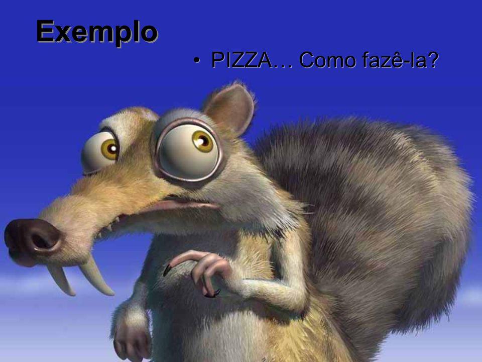 Exemplo PIZZA… Como fazê-la?