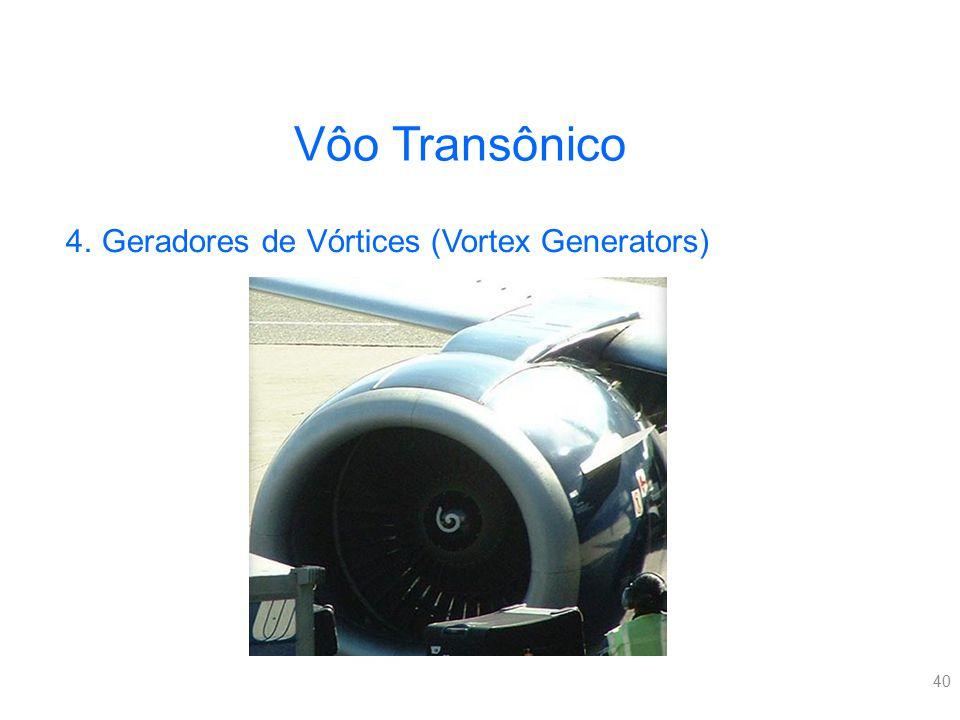 40 Vôo Transônico 4.Geradores de Vórtices (Vortex Generators)