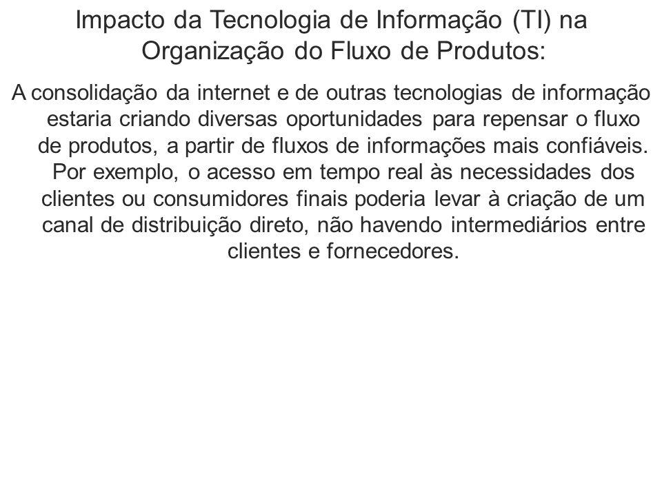 Impacto da Tecnologia de Informação (TI) na Organização do Fluxo de Produtos: A consolidação da internet e de outras tecnologias de informação estaria