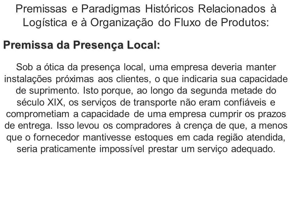 Premissas e Paradigmas Históricos Relacionados à Logística e à Organização do Fluxo de Produtos: Premissa da Presença Local: Sob a ótica da presença l
