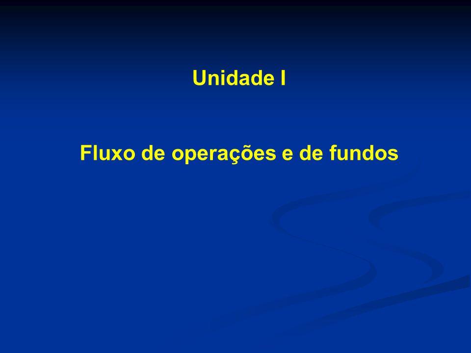 Unidade I Fluxo de operações e de fundos