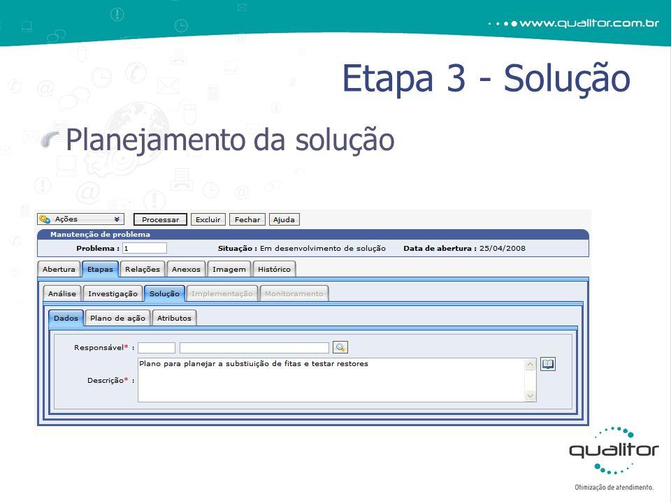 Planejamento da solução Etapa 3 - Solução
