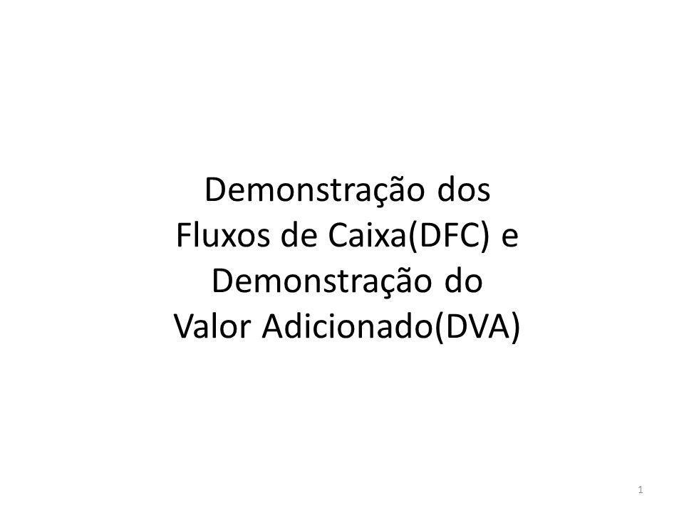Demonstração dos Fluxos de Caixa(DFC) e Demonstração do Valor Adicionado(DVA) 1