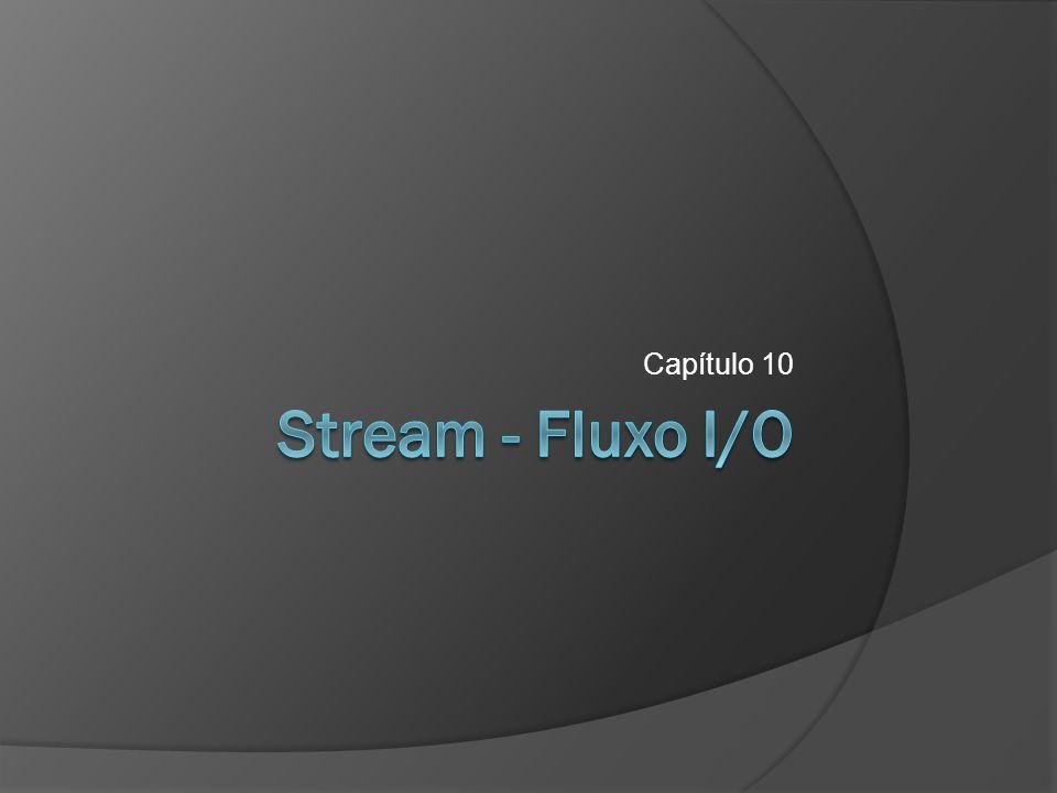 Stream – Fluxo I/O  Acessando o sistema de arquivos java.io.File  Gravação em arquivos texto java.io.FileWriter java.io.BufferedWriter java.io.PrintWriter  Leitura de arquivos texto java.io.FileReader java.io.BufferedReader  Gravação em arquivos binários java.io.FileOutputStream java.io.ByteArrayOutputStream  Leitura em arquivos binários java.io.FileInputStream java.io.ByteArrayInputStream  Arquivos de acesso randômico java.io.RandomAccessFile 2