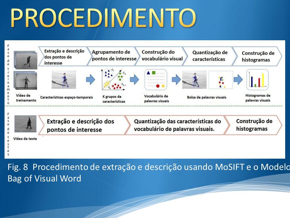 Fig. 8 Procedimento de extração e descrição usando MoSIFT e o Modelo Bag of Visual Word