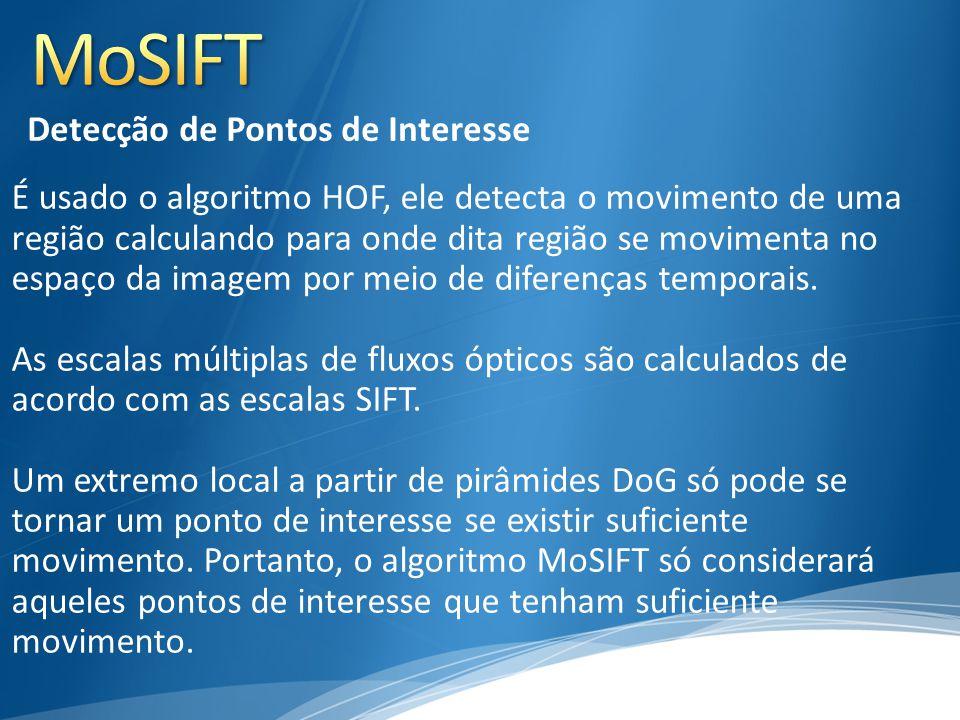 É usado o algoritmo HOF, ele detecta o movimento de uma região calculando para onde dita região se movimenta no espaço da imagem por meio de diferença