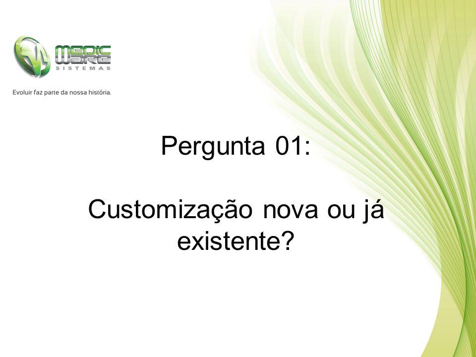 Pergunta 01: Customização nova ou já existente