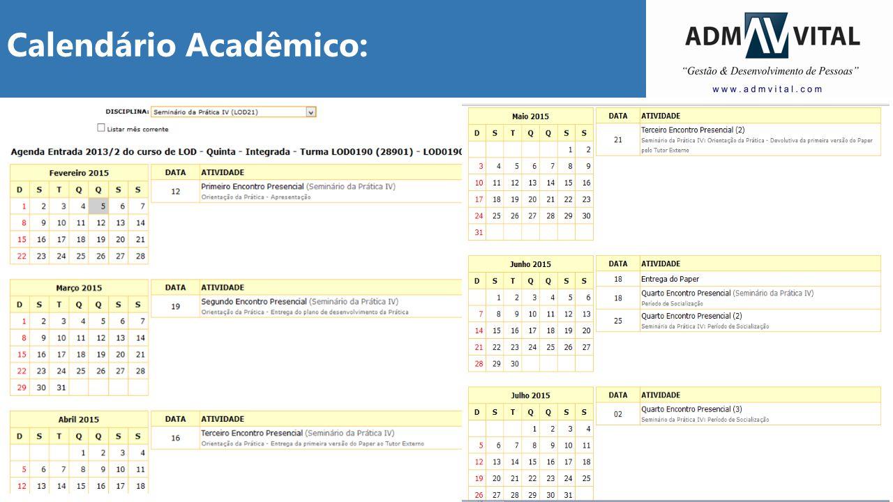10 Calendário Acadêmico: