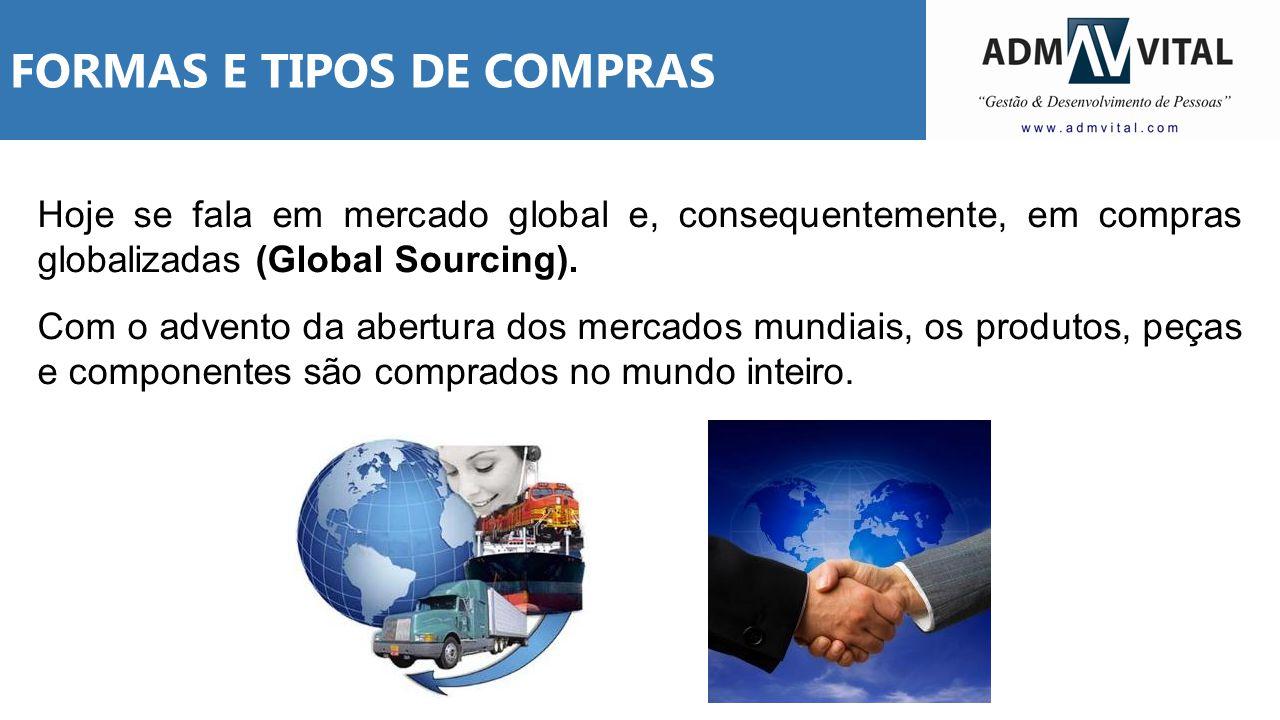 Hoje se fala em mercado global e, consequentemente, em compras globalizadas (Global Sourcing). Com o advento da abertura dos mercados mundiais, os pro
