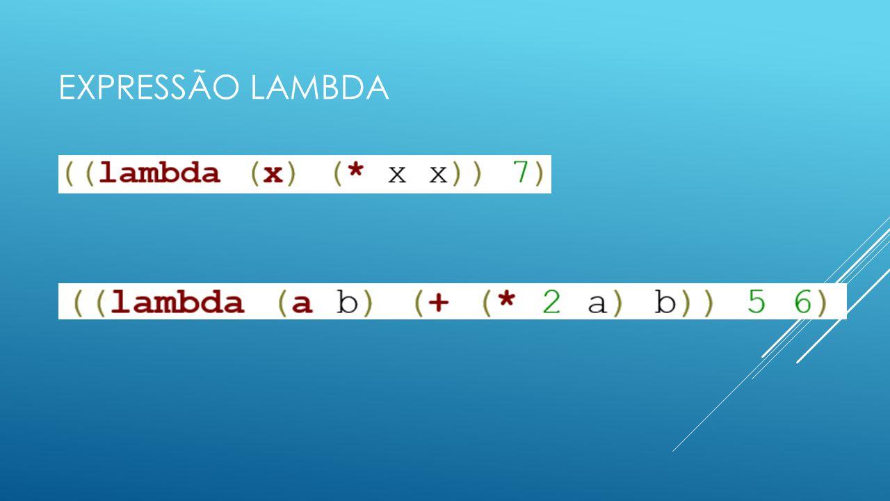 EXPRESSÃO LAMBDA
