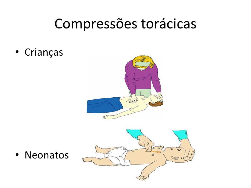 Compressões torácicas Crianças Neonatos