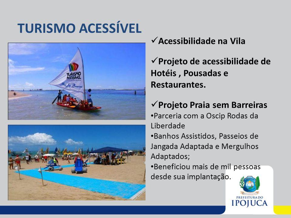 TURISMO ACESSÍVEL Acessibilidade na Vila Projeto de acessibilidade de Hotéis, Pousadas e Restaurantes. Projeto Praia sem Barreiras Parceria com a Osci
