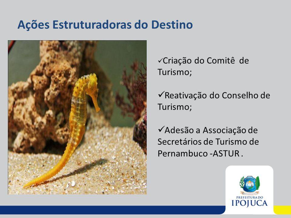 Ações Estruturadoras do Destino Criação do Comitê de Turismo; Reativação do Conselho de Turismo; Adesão a Associação de Secretários de Turismo de Pern