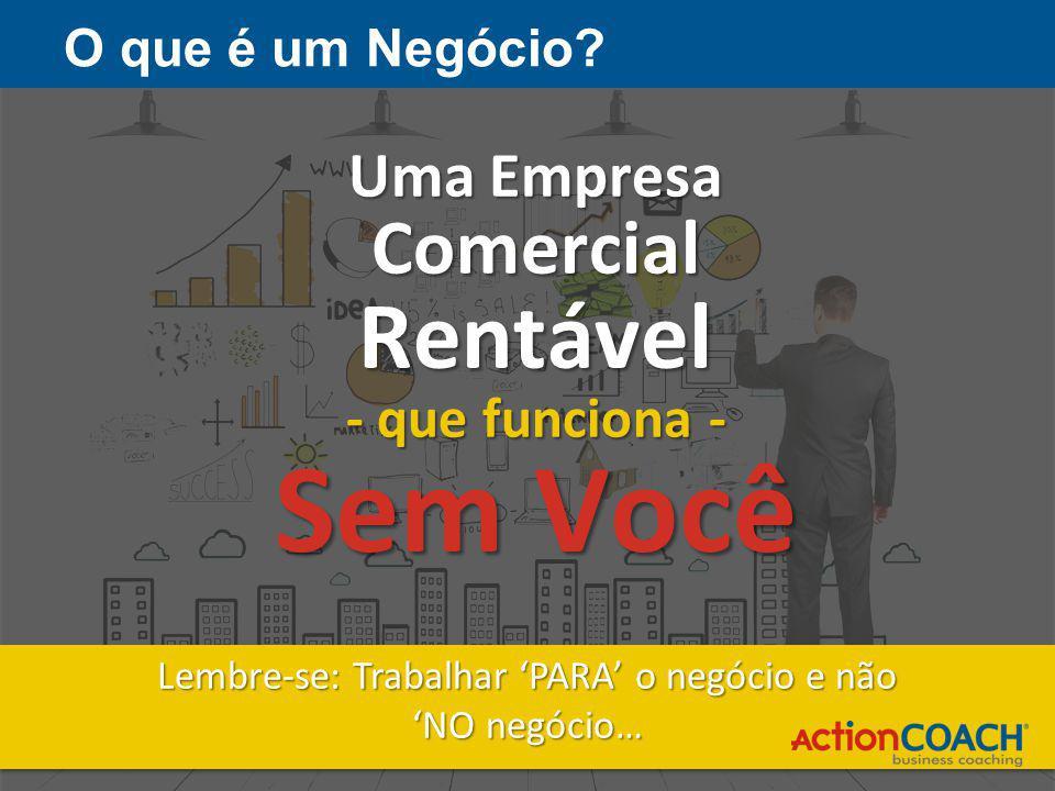 Uma Empresa ComercialRentável - que funciona - Sem Você Lembre-se: Trabalhar 'PARA' o negócio e não 'NO negócio… Lembre-se: Trabalhar 'PARA' o negócio e não 'NO negócio… O que é um Negócio?