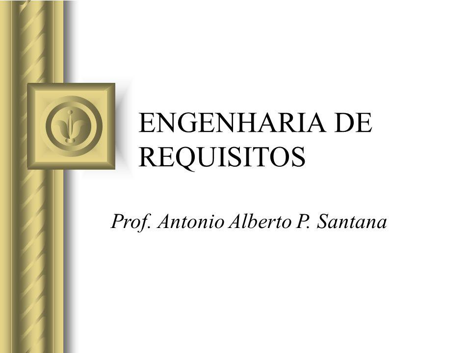 ENGENHARIA DE REQUISITOS Prof. Antonio Alberto P. Santana