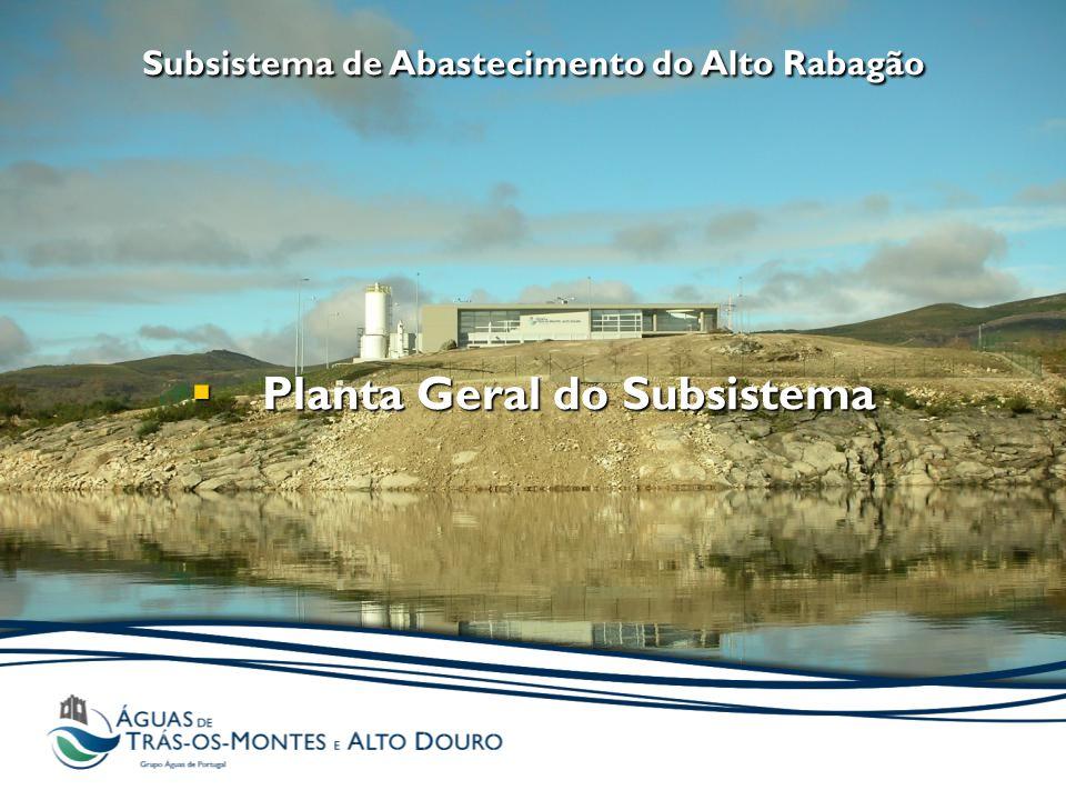 Subsistema de Abastecimento do Alto Rabagão  Planta Geral do Subsistema