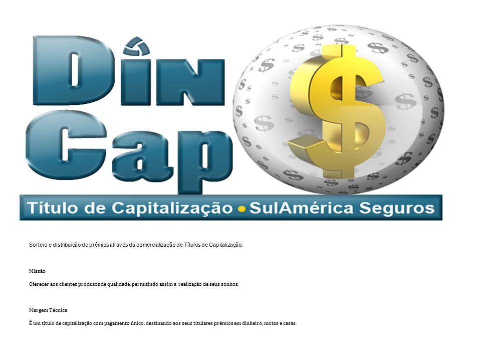 Objetivo Sorteio e distribuição de prêmios através da comercialização de Títulos de Capitalização. Missão Oferecer aos clientes produtos de qualidade,