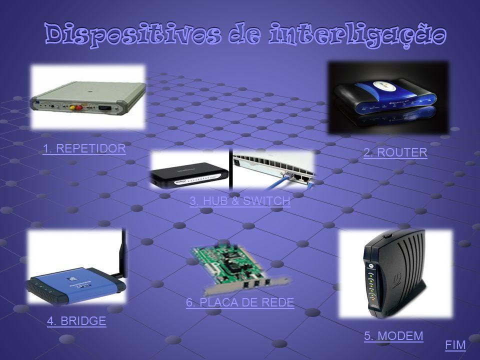  Em informática, Repetidor é um equipamento utilizado para interligação de redes idênticas, pois amplificam e regeneram electricamente os sinais transmitidos no meio físico (Wireless, Wimax, telefonia móvel).