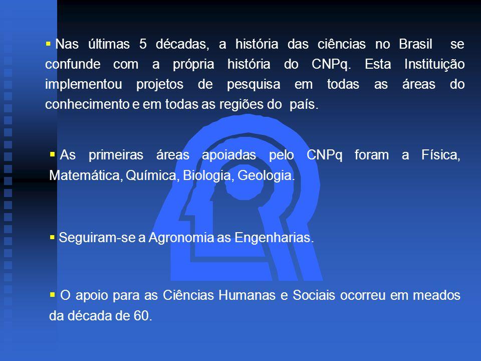  Nas últimas 5 décadas, a história das ciências no Brasil se confunde com a própria história do CNPq.