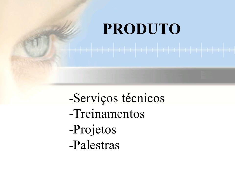 -Serviços técnicos -Treinamentos -Projetos -Palestras PRODUTO