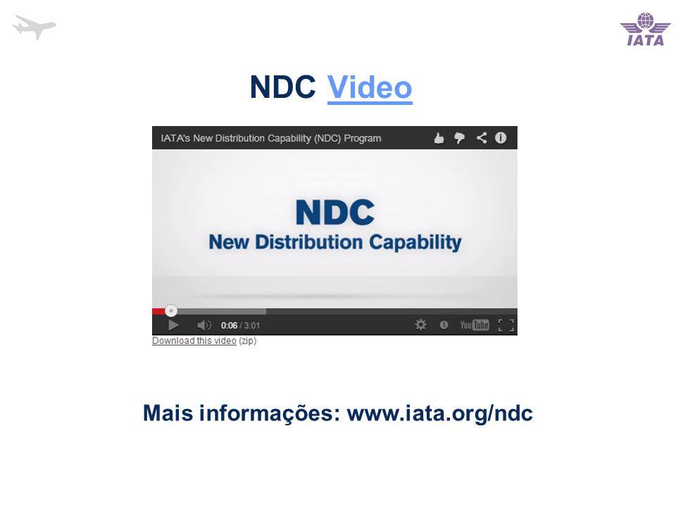 NDC VideoVideo Mais informações: www.iata.org/ndc