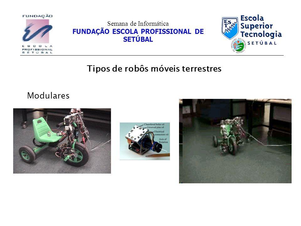 Tipos de robôs móveis terrestres Semana de Informática FUNDAÇÃO ESCOLA PROFISSIONAL DE SETÚBAL Modulares