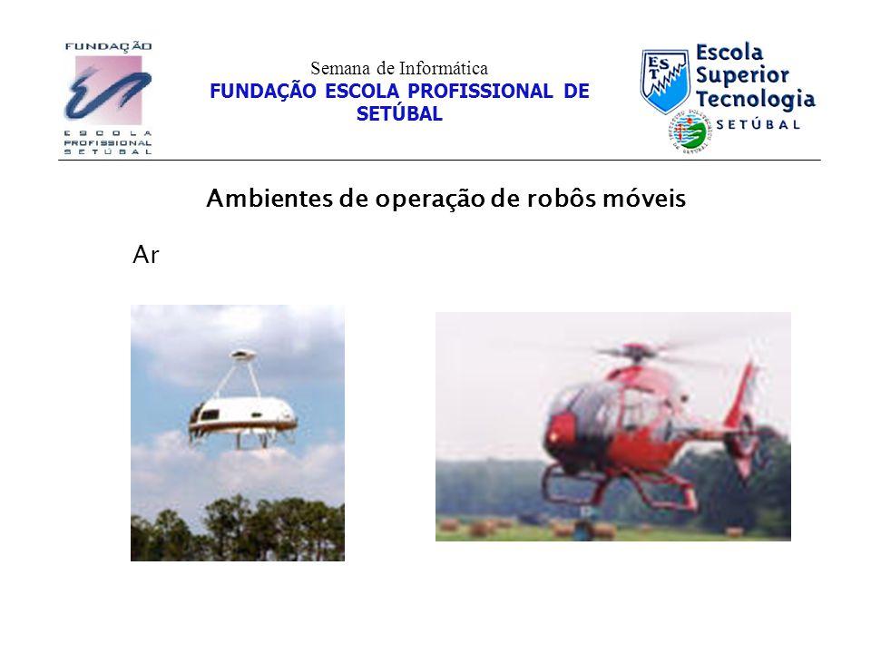 Ambientes de operação de robôs móveis Semana de Informática FUNDAÇÃO ESCOLA PROFISSIONAL DE SETÚBAL Ar