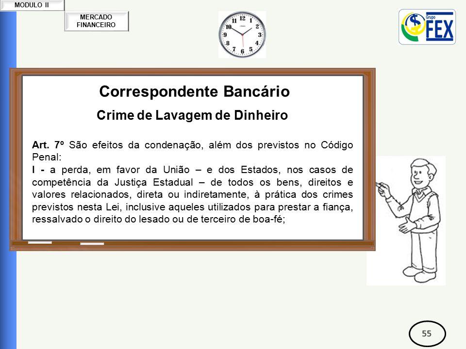 MERCADO FINANCEIRO MODULO II Correspondente Bancário Crime de Lavagem de Dinheiro Art.