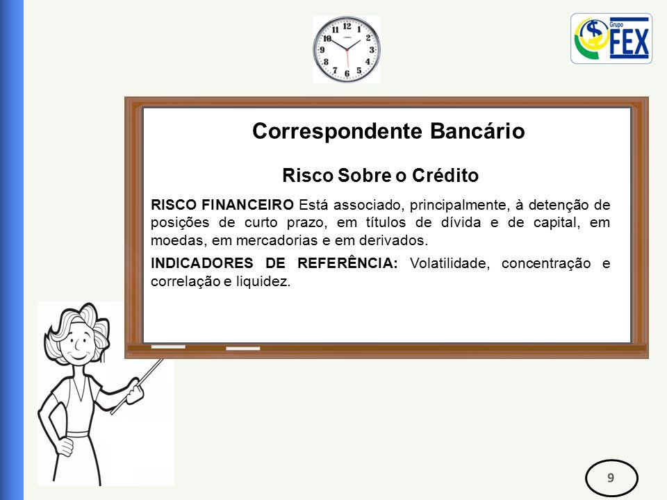 Correspondente Bancário Risco Sobre o Crédito Capacidade de pagamento: Para se obter informações sobre o sua capacidade de pagamento, devemos fazer um levantamento de financiamentos feitos no passado, se pagou, se foi pontual, pois é um fator importante.