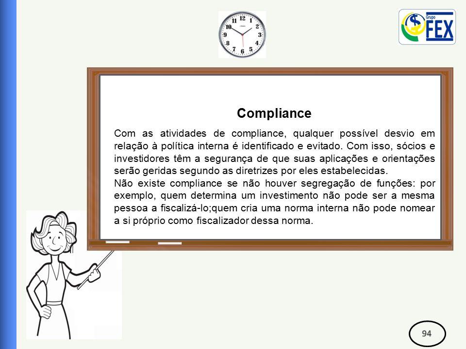 Correspondente Bancário Compliance Com as atividades de compliance, qualquer possível desvio em relação à política interna é identificado e evitado.