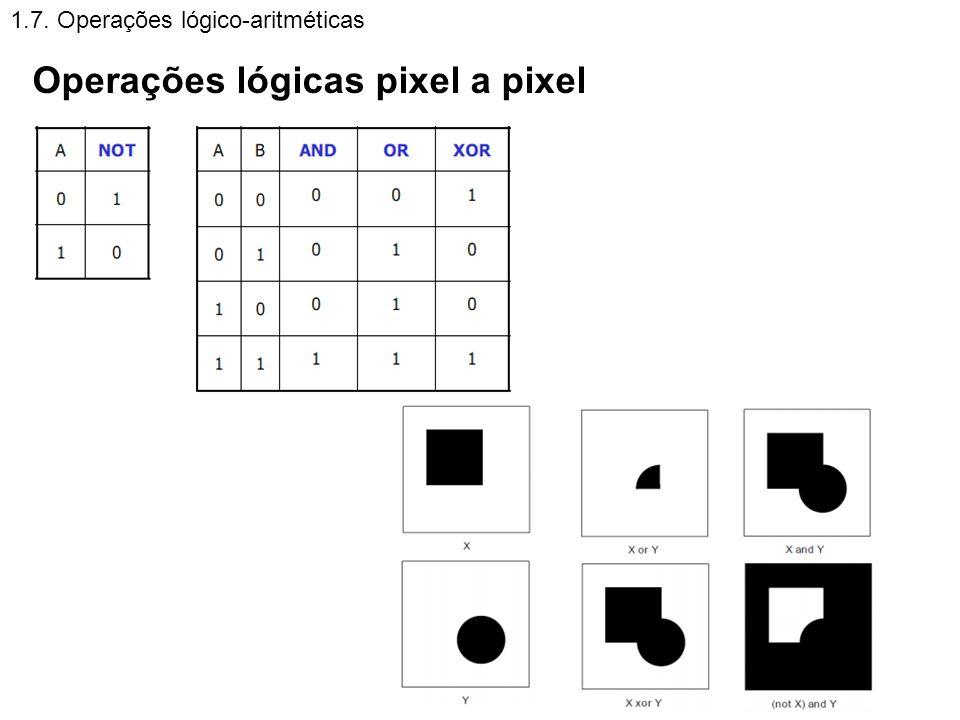 Operações lógicas pixel a pixel
