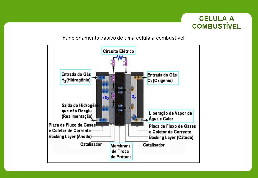 Funcionamento básico de uma célula a combustível CÉLULA A COMBUSTÍVEL