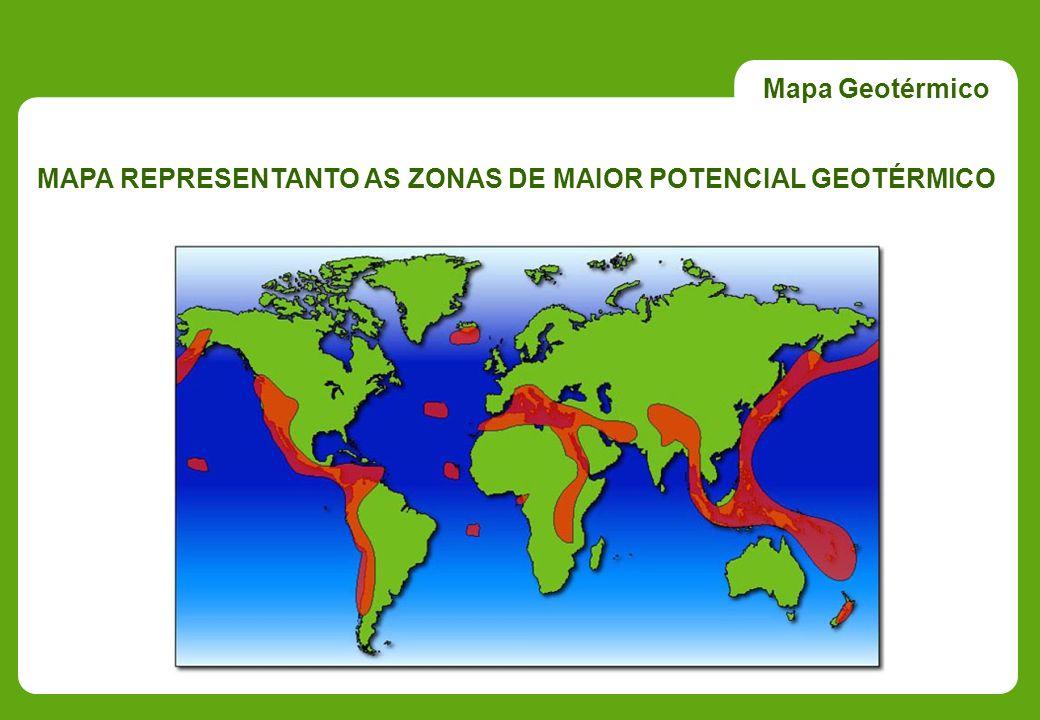 Mapa Geotérmico MAPA REPRESENTANTO AS ZONAS DE MAIOR POTENCIAL GEOTÉRMICO