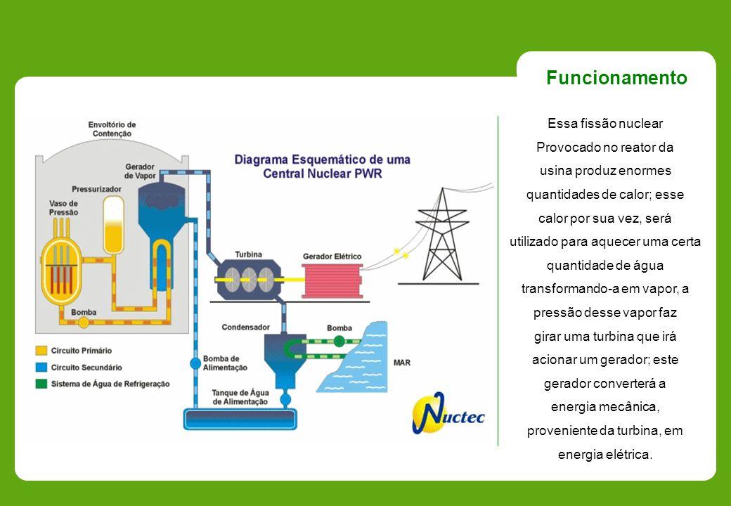 Essa fissão nuclear Provocado no reator da usina produz enormes quantidades de calor; esse calor por sua vez, será utilizado para aquecer uma certa qu