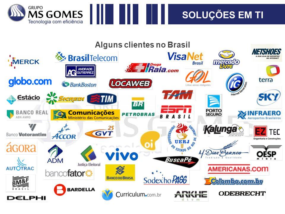 Alguns clientes no Brasil