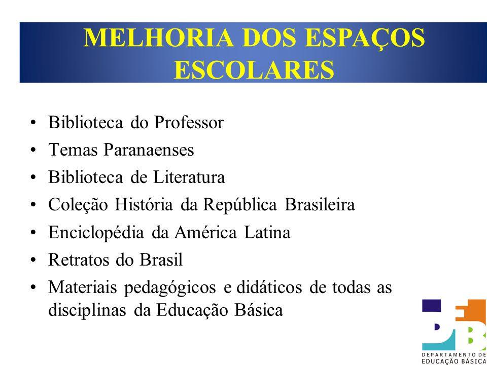Biblioteca do Professor Temas Paranaenses Biblioteca de Literatura Coleção História da República Brasileira Enciclopédia da América Latina Retratos do
