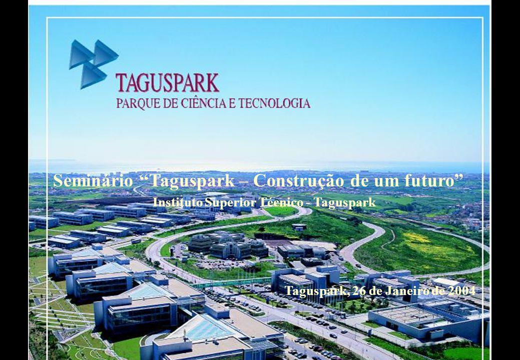 Criação e Desenvolvimento de Empresas de Base Científica ou Tecnológica no TAGUSPARK Centro de Inovação Empresarial Geração Ideias Criação Empresas Graduação Empresas Incubação de Ideias de Base Científica ou Tecnológica I I Incubação de Projectos I&D c/ Orientação Empresarial I D Desenvolvimen - to de Empresas Maduras D E Incubação de Empresas de Base Científica ou Tecnológica HE IN EX I E PESSOASPESSOAS EMPRESASEMPRESAS Centro de Competências