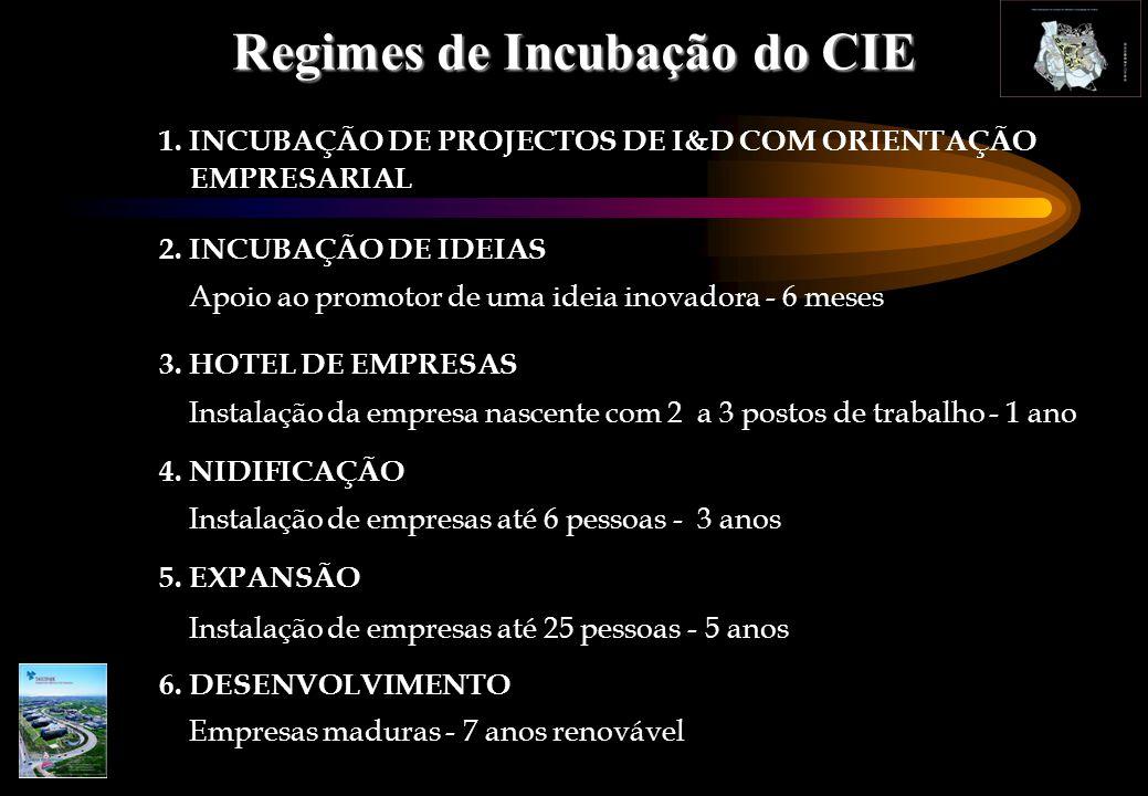 1. INCUBAÇÃO DE PROJECTOS DE I&D COM ORIENTAÇÃO EMPRESARIAL 2.
