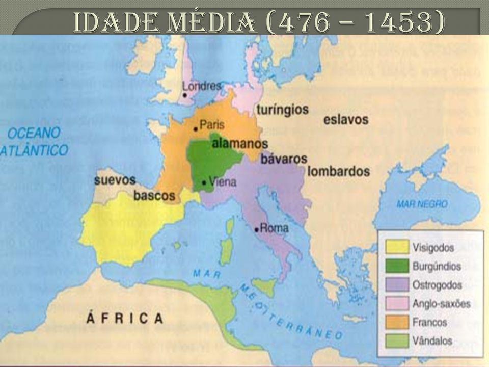3 – O REINO CRISTÃO DOS FRANCOS  Atual França. Único reino bárbaro relativamente duradouro.