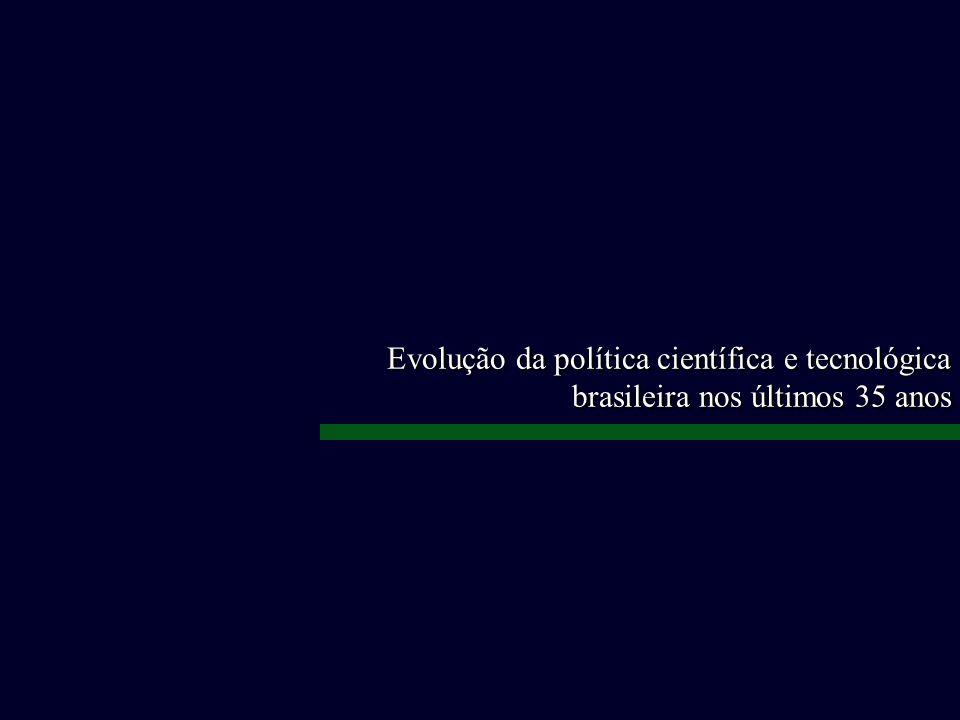 Evolução da política científica e tecnológica brasileira nos últimos 35 anos