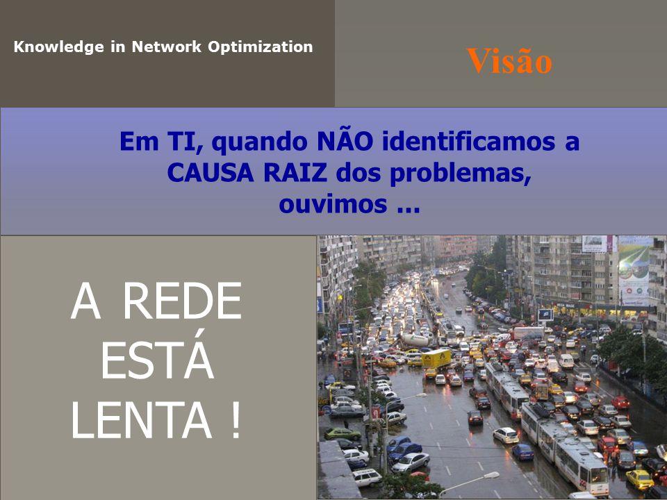 O Problema Knowledge in Network Optimization e-mail ERP CRM EPO Windows Update youtube facebook VOIP QoS Aplicações deixam RASTROS na REDE