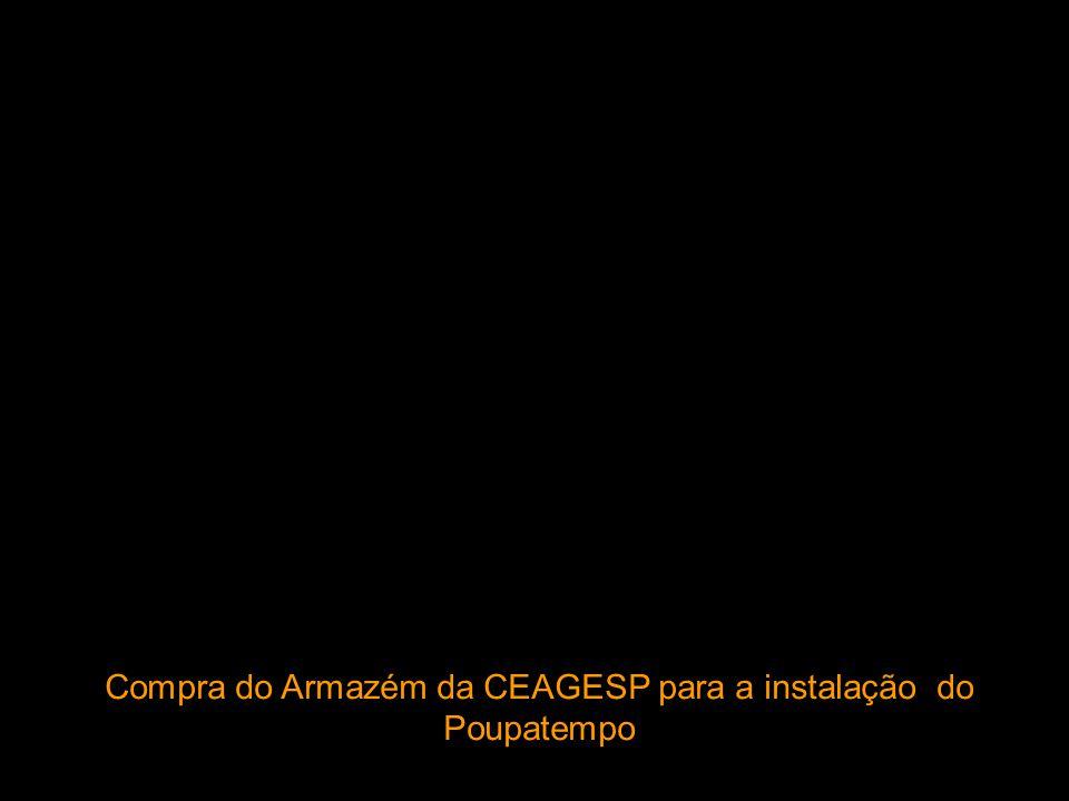 Compra do Armazém da CEAGESP para a instalação do Poupatempo
