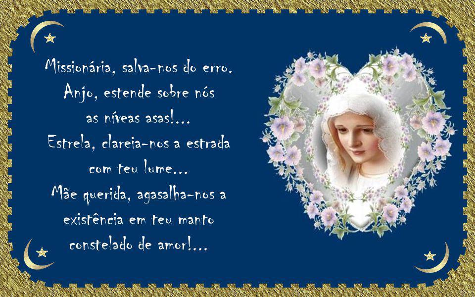 Senhora, que viste na cruz da morte o Filho Divino, acompanhando-lhe a agonia com as lágrimas silenciosas de tua dor, sem qualquer sinal de reclamação