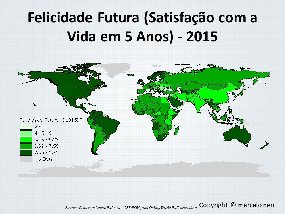 Felicidade Futura (Satisfação com a Vida em 5 Anos) - 2015 Source: Center for Social Policies – CPS/FGV from Gallup World Poll microdata Copyright © m