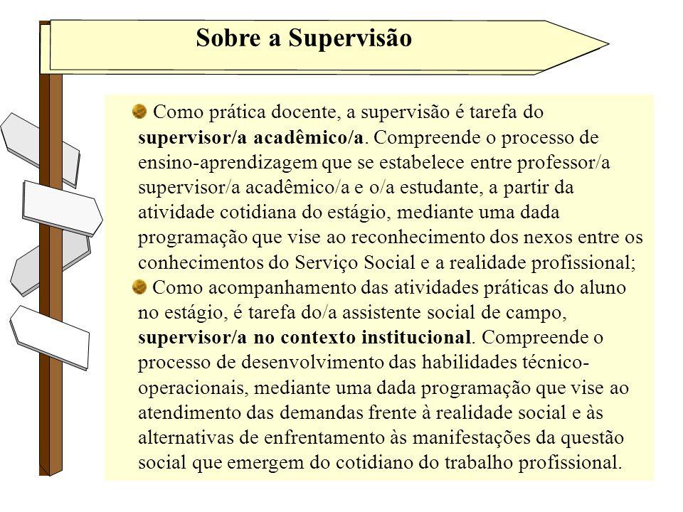 Sobre a Supervisão Tânia Diniz/2010 Como prática docente, a supervisão é tarefa do supervisor/a acadêmico/a. Compreende o processo de ensino-aprendiza