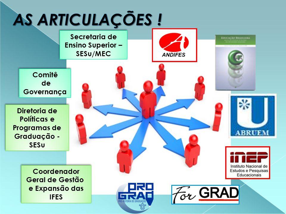 Comitê de Governança Diretoria de Políticas e Programas de Graduação - SESu Secretaria de Ensino Superior – SESu/MEC Coordenador Geral de Gestão e Expansão das IFES